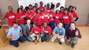 LEDET Energy Efficiency Interns at UNIVEN with EnTF trainers Louis Lagrange, Albert Williams and Jaco Homann